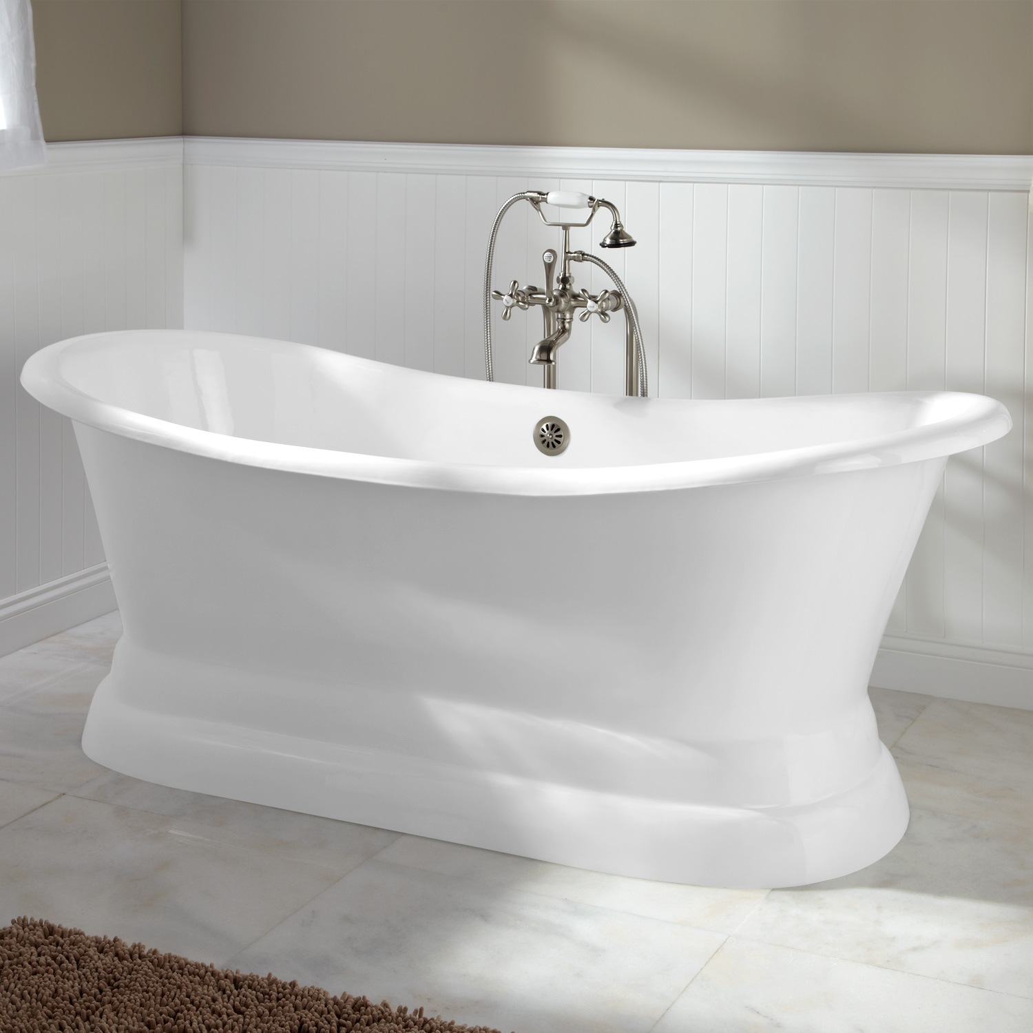 YS-2008D Cast Iron Double Slipper Tub with Monarch Imperial ...
