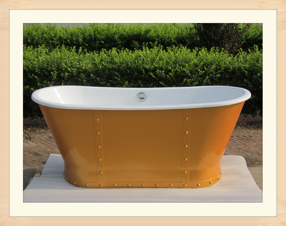 cast iron skirted tub