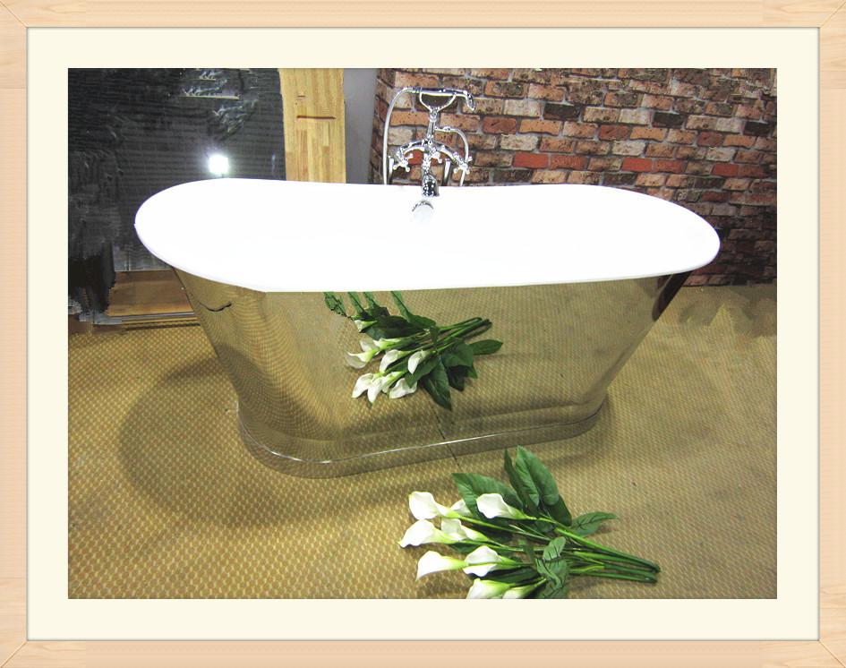 cast iron skirted tub