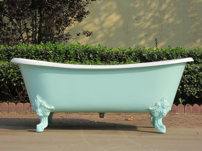 YS-2008 Cast Iron Double Slipper Tub with Monarch Imperial ...